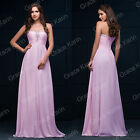 Women Prom Ball Gown LACE UP Wedding Bridesmaid Formal Party Long Evening Dress