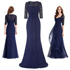 Lace 1/2 Sleeve Mother of the Bride Dress Formal Evening Party Wedding Prom GOWN