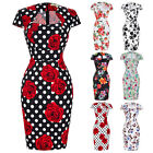 Women's Vintage Cotton Wear To Work Business Cocktail Party Bodycon Pencil Dress
