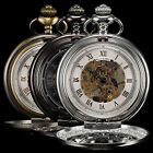 3 Color KS Vintage Hunter-Hunter FOB Skeleton Mechanical Mens Retro Pocket Watch