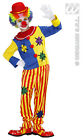 Childrens Clown Fancy Dress Up Costume for Boys & Girls Circus Fairground Outfit