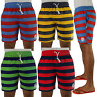 Mens Striped Beach Board Shorts Summer Surf Swimming Trunks Size
