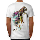 Wellcoda Honeybee Beast Print Mens T-shirt, Honey Graphic Design on the Back