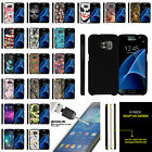 For Samsung Galaxy S7 G930 Hard Snap On Case Unique Designs + Tempered Glass