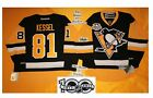 Kessel Home Pittsburgh Penguins Reebok Hockey Jersey 50th & NHL 100th patch 7185