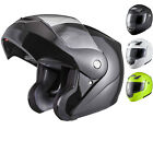 Shox Bullet Flip Up Front Modular Motorcycle Motorbike Bike Scooter Crash Helmet
