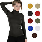 One Size S/M/L Women's Stretchy Long Sleeve Worming Fleece Lined Turtleneck Top