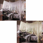 Choose WHITE or CREAM Luxurious Bed Canopy Indoor Outdoor Multi Use NEW