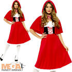 Red Riding Hood Ladies Fancy Dress Fairytale Book Day Week Womens Adults Costume
