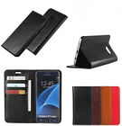 Classic Luxury Genuine Leather Flip Book Style Wallet Stand Case Cover