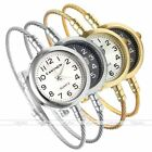 Lady Women Round Case Dial Analog Quartz Bangle Steel Wire Band Wrist Watch Gift