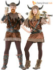 Adults Viking Costume Mens Ladies Medieval Warrior Fancy Dress Barbarian Outfit