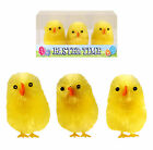 Large 6cm Easter Chicks Yellow Chenille Decorations For Bonnets Craft Cake