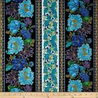 SUFFOLK GILDED FLORAL STRIPE TIMELESS TREASURES QUILT SEW FABRIC Free Oz Post