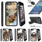 """For Apple iPhone 7 Plus (5.5"""") Clip Stand Case + Tempered Glass Cow Licking Nose"""