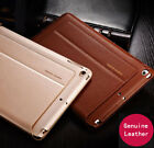 Luxury Genuine Leather Case Smart Auto Sleep Cover For iPad mini Air 1 2 3 4 Pro