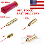 US Red Laser BoreSighter .45/9MM/12GA/7.62X39/.223REM/30-30WIN Cartridge Brass