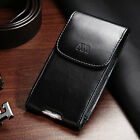 Executive Business Cell Phone Clip Holder Belt Loop Vertical Case Pouch Black