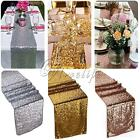 "Gold/Silver/Champagne Sequin Table Runner 12""x108""  Sparkly Wedding Party Decor"