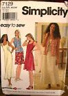 Simplicity 7129 Misses Dress & Vest Pattern MANY SIZES OOP VINTAGE UNCUT