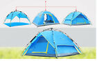 3-4 Person Camping Tent Waterproof UV-resistant Hiking Outdoor Portable Blue