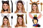 Instant Fancy Dress Animal Headband Costumes - Ears Tail and Tie
