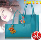 Fashion Leather Womens Bag Long Shoulder Bag Candy Color Flowers Tote US Stock