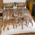 Winter Reindeer Stag in the Snow Duvet Cover Set - Photo Print Bedding Design