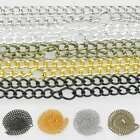 "1/5/10pcs Ring Curb Chain Necklace 50cm/20"" Connector Jewelry 3/4.5mm Lots CA"