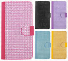 For At&t LG G Vista 2 Premium Bling Diamond Wallet Case Flip Pouch Phone Cover