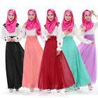 New Abaya Kaftan Muslim Maxi Full Sleeve Dress Islam Lady Maxi Clothes 5 Color