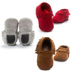 Suede Leather Cute Baby Girls Boy Toddler Infant Tassel Moccasin Shoes 0-18Month