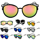 Women's Classic Cat Eye Outdoor Fashion Mirrored Vintage Retro Sunglasses New