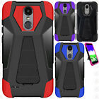 ZTE Grand X3 Z959 Rubber IMPACT TRI HYBRID Hard Case Skin Cover + Screen Guard