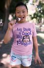"""Funny Uncle T-Shirt """"My Uncle is Cool Like a Penguin"""" Niece Nephew Tee Gift"""