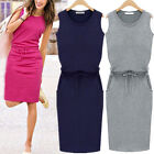 Fashion Women Sleeveless O-neck Cocktail Evening Party Short Mini Dress New