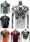 Artful Custom Men T-shirt Present Gift Skull Casual Cotton Eagle Lion Leo Gun