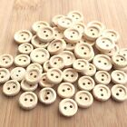 10 tiny round wooden buttons 8mm diameter & 11mm diameter 2 holes