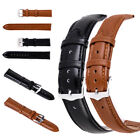 12mm-24mm Unisex Genuine Leather Black Brown Watch Strap Band Womens Mens image