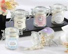 60 PERSONALIZED Religious Favor Jars w/ Swing Top Lid Baptism Bar Mitzvah Favors
