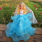 Cute Princess Party Dresses Wedding Clothes Outfits Gown For Barbie Doll
