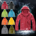 Men Women Ladies Waterproof Windproof Jacket Outdoor Bicycle Sports Rain Coat