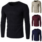 Fashion Men's Casual Knitted Sweater Pullover Crew Neck Thick Jumpers Tops