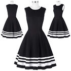Womens Vintage Pinup 1950's 60's Housewife Casual Cocktail Party Swing Dress