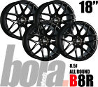 "18"" BOLA B8R BLACK 5 STUD 8.5J SET OF 4 NEW ALLOY WHEELS FIT Audi A3 12-ON"