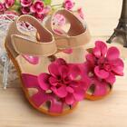Kids Girls Summer Princess Flat Sandals Flower Toddler Baby Soft casual Shoes