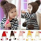 Lovely Baby Winter Warm Soft Hat Kids Boys Girls  Solid Toddler Knitted Hats Cap