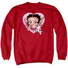 Betty Boop 30's Cartoon Betty And Pudgy Adult Crewneck Sweatshirt $33.95 USD
