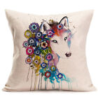 Awesome Home Decor Linen Cotton Blended Crown Cushion Cover Throw Pillow C