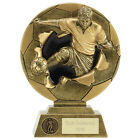 FOOTBALL SOCCER BALL 2D RESIN TROPHY TROPHIES 4 SIZES AVAILABLE ENGRAVED FREE